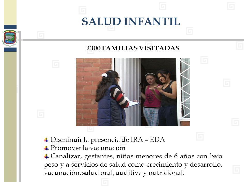 SALUD INFANTIL 2300 FAMILIAS VISITADAS