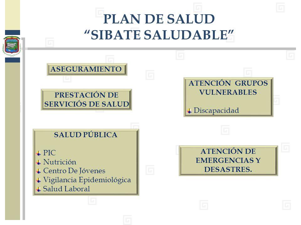 PRESTACIÓN DE SERVICIÓS DE SALUD ATENCIÓN DE EMERGENCIAS Y DESASTRES.