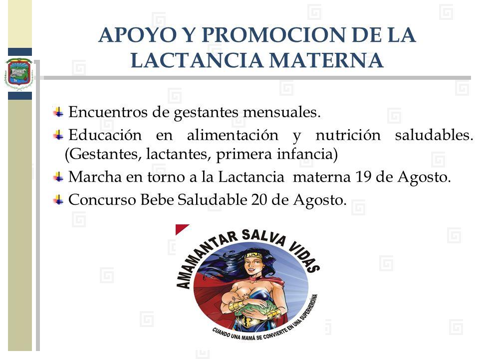 APOYO Y PROMOCION DE LA LACTANCIA MATERNA