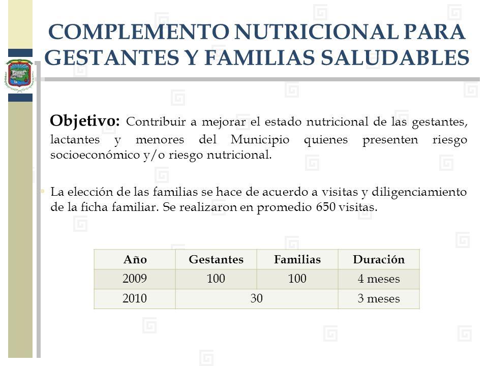 COMPLEMENTO NUTRICIONAL PARA GESTANTES Y FAMILIAS SALUDABLES