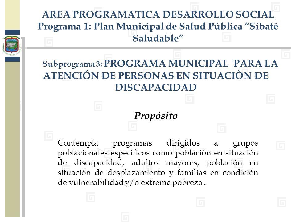 AREA PROGRAMATICA DESARROLLO SOCIAL
