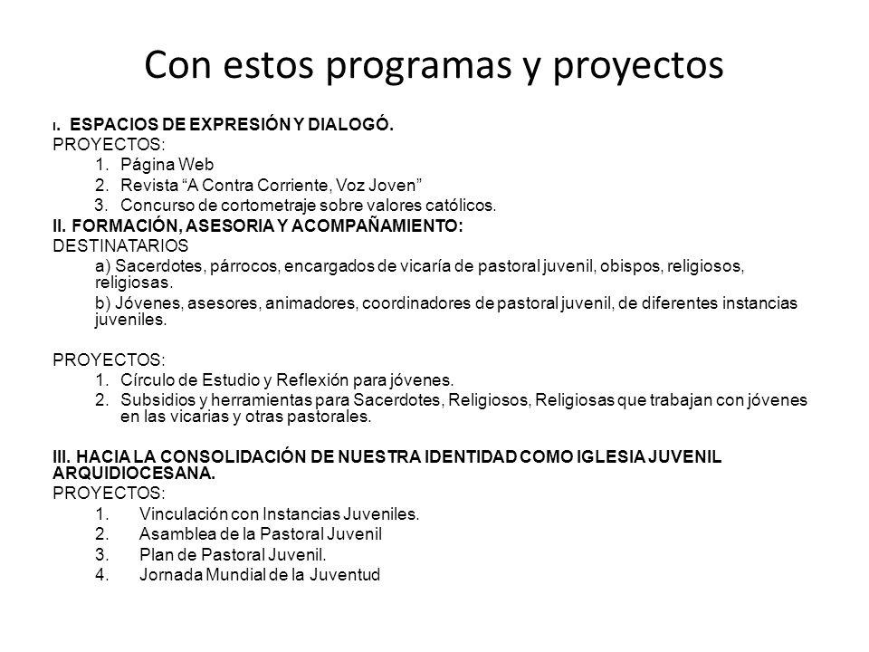 Con estos programas y proyectos