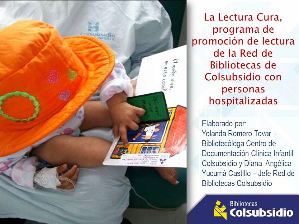 La Lectura Cura, programa de promoción de lectura de la Red de Bibliotecas de Colsubsidio con personas hospitalizadas