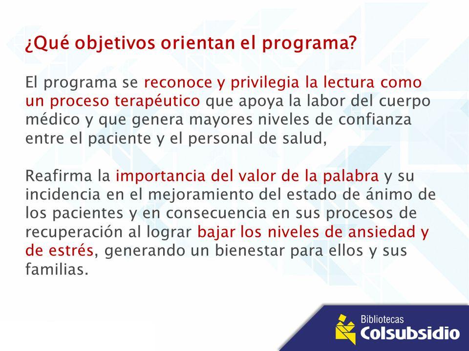 ¿Qué objetivos orientan el programa