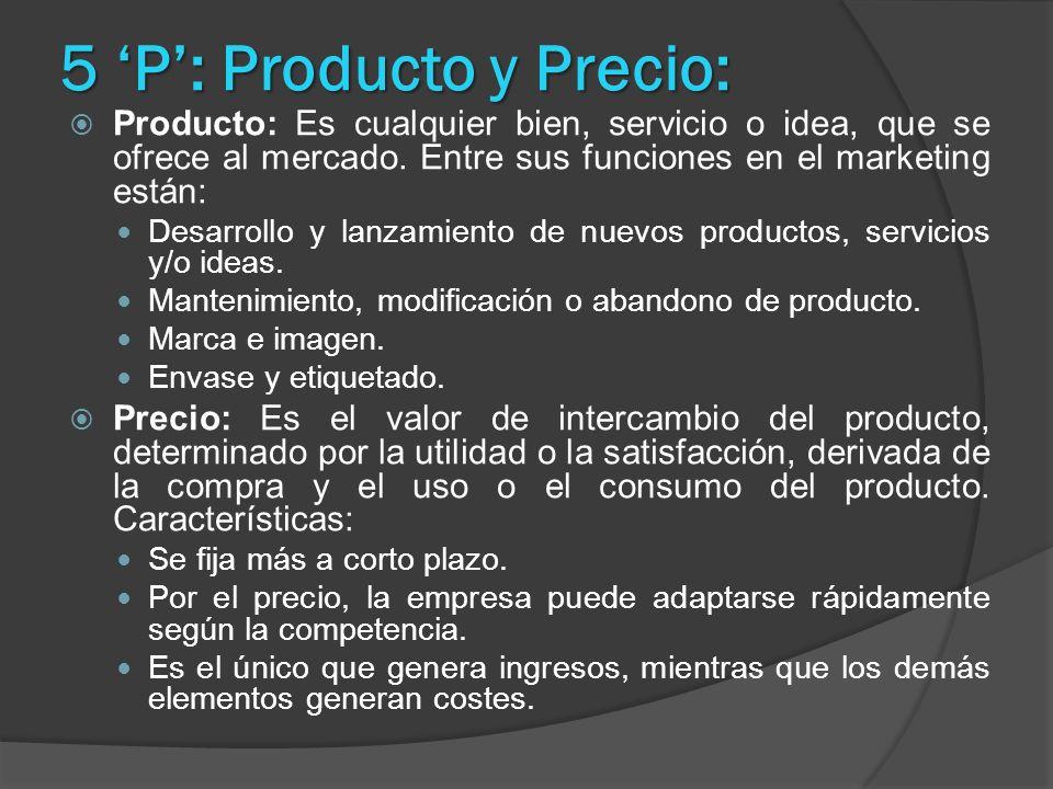 5 'P': Producto y Precio: