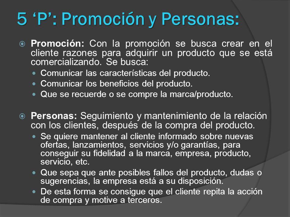 5 'P': Promoción y Personas: