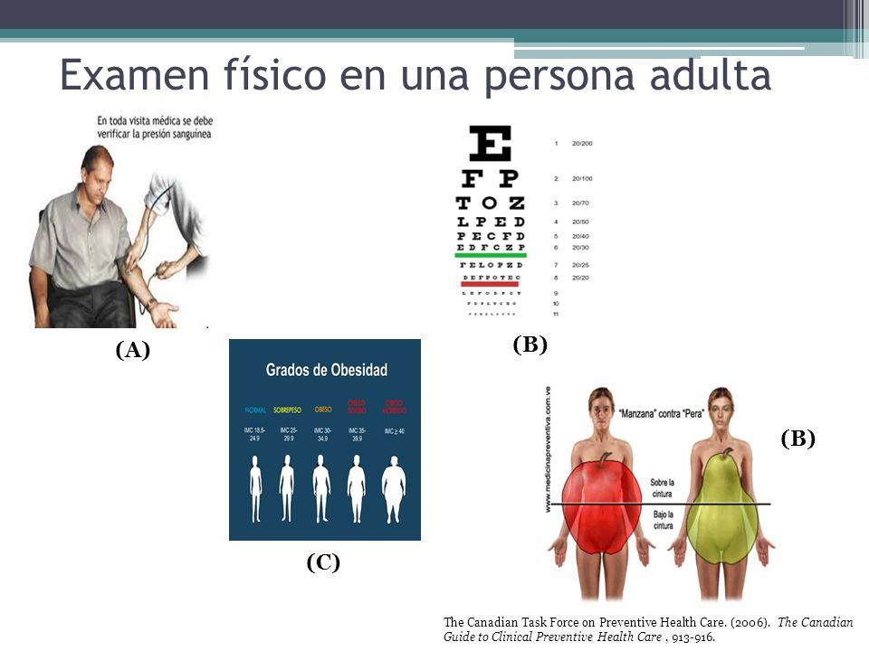 Examen físico en una persona adulta
