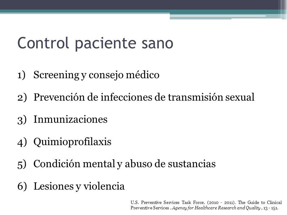 Control paciente sano