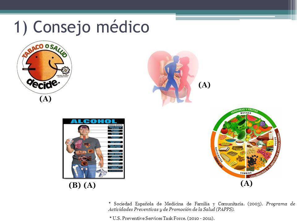 1) Consejo médico (A) (A) (A) (B) (A)