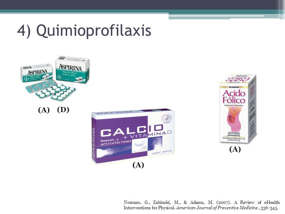 4) Quimioprofilaxis (A) (D) (A) (A)
