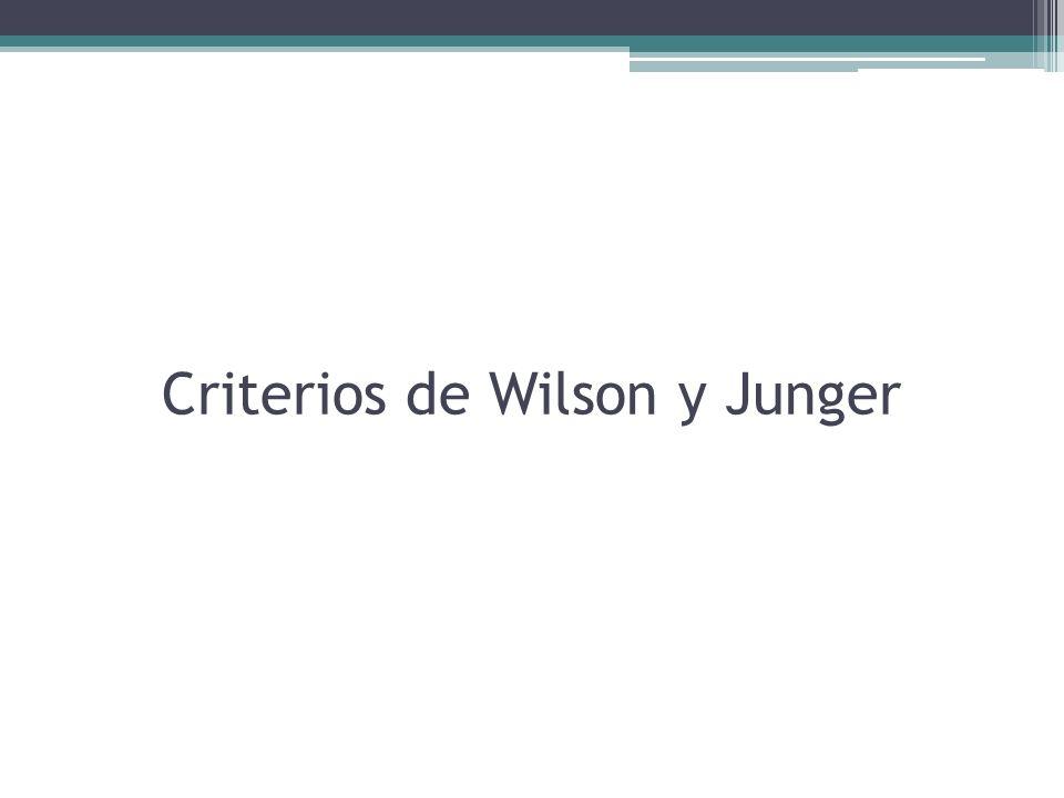 Criterios de Wilson y Junger