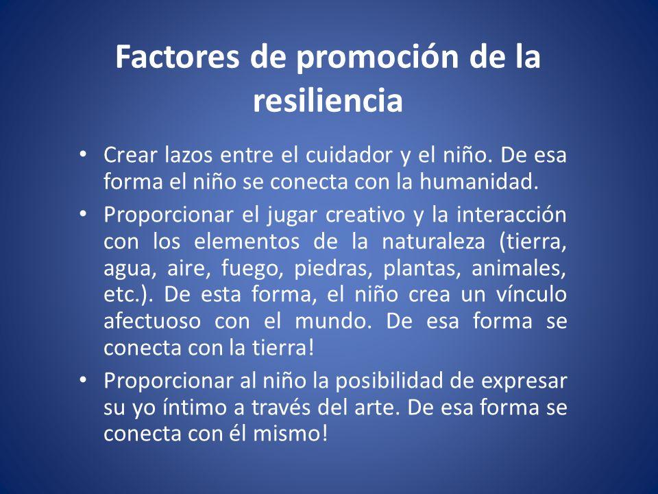 Factores de promoción de la resiliencia