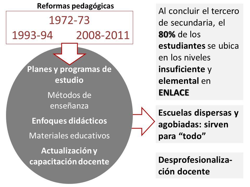 Planes y programas de estudio Actualización y capacitación docente