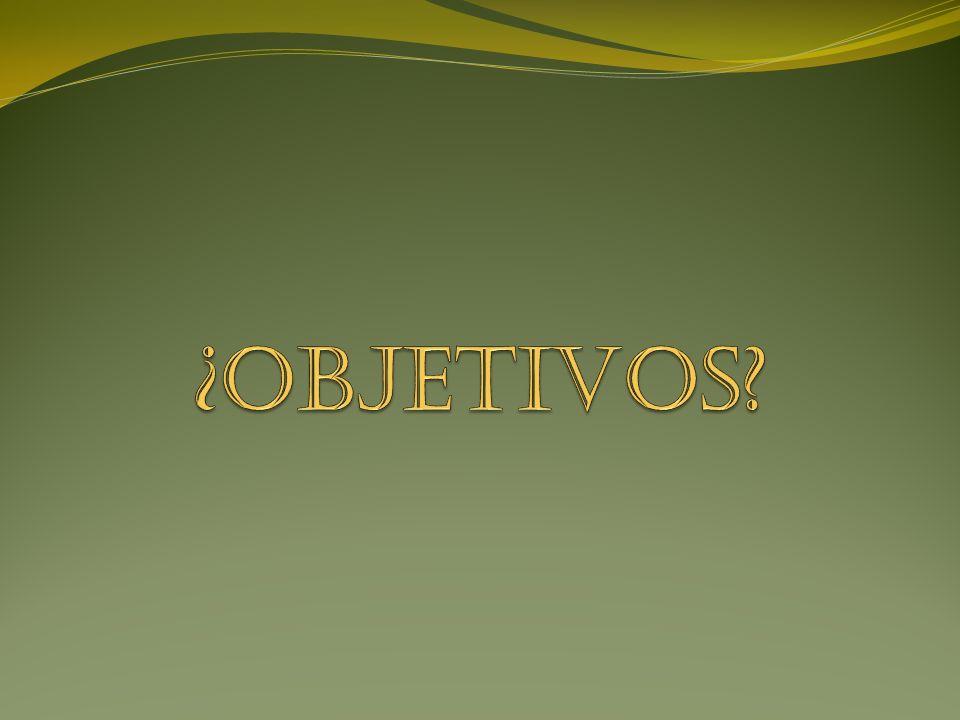 ¿OBJETIVOS