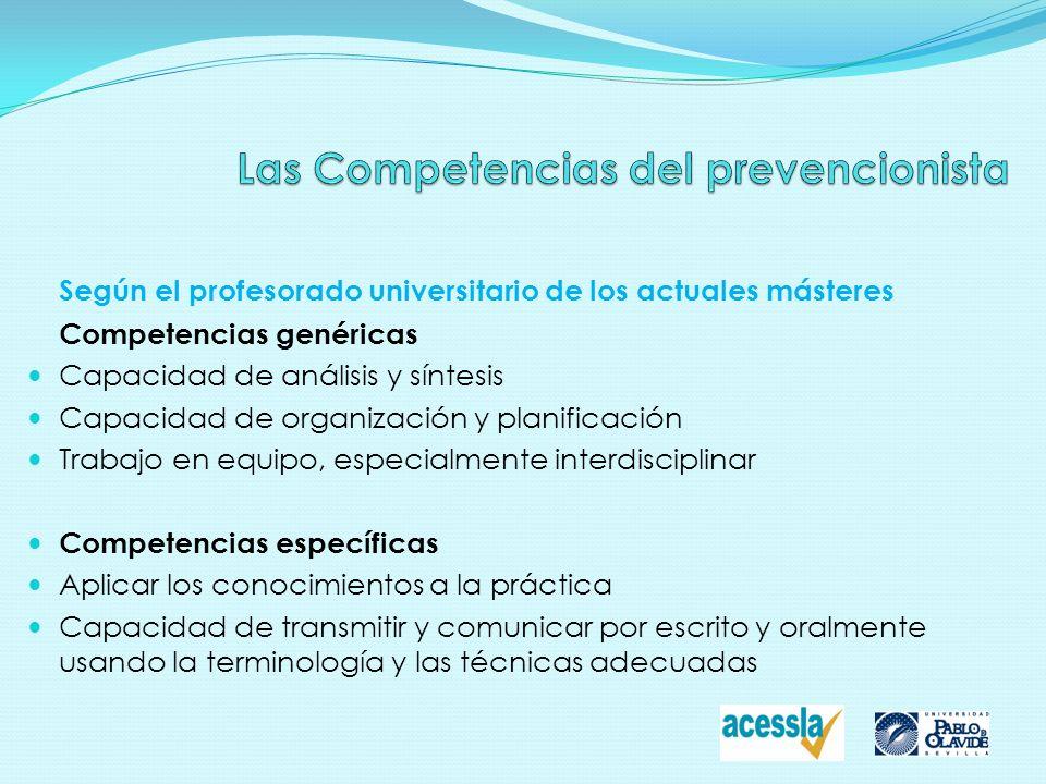 Las Competencias del prevencionista