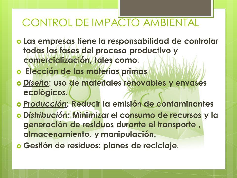 CONTROL DE IMPACTO AMBIENTAL