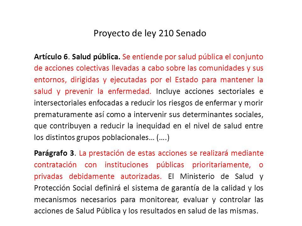 Proyecto de ley 210 Senado