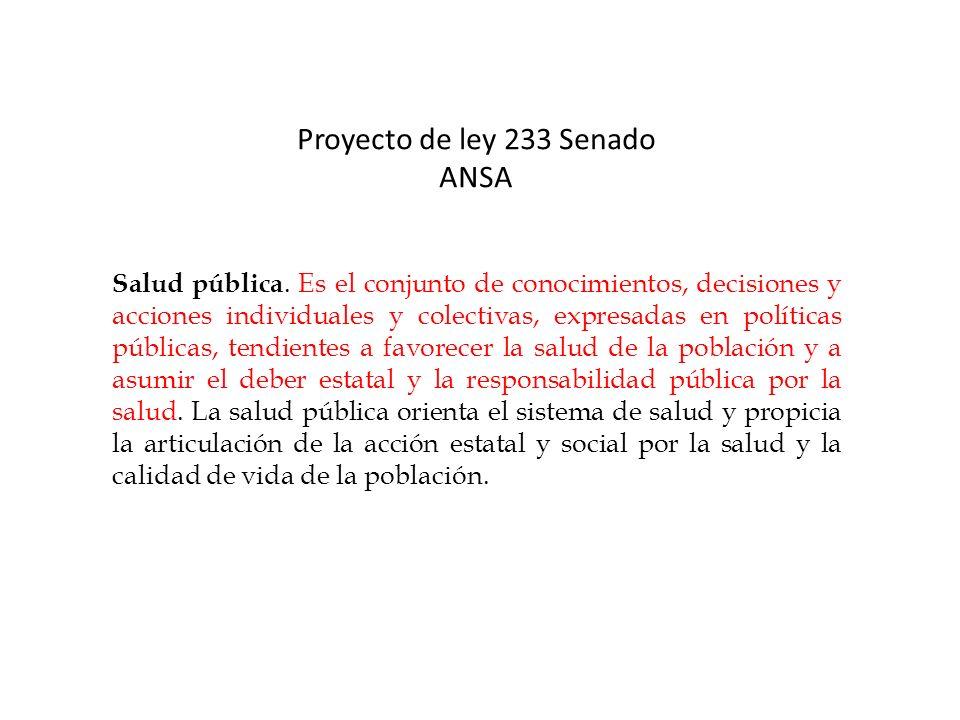 Proyecto de ley 233 Senado ANSA