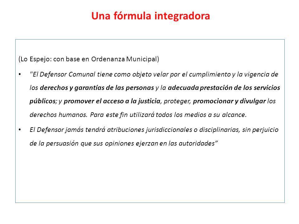 Una fórmula integradora