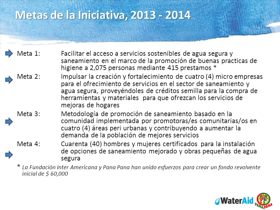 WaterAid in Nicaragua Program 2012 - 14