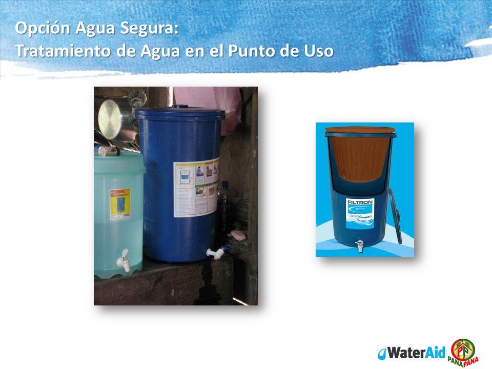 Opción Agua Segura: Tratamiento de Agua en el Punto de Uso