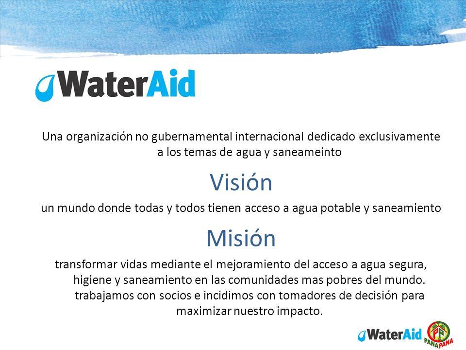Una organización no gubernamental internacional dedicado exclusivamente a los temas de agua y saneameinto