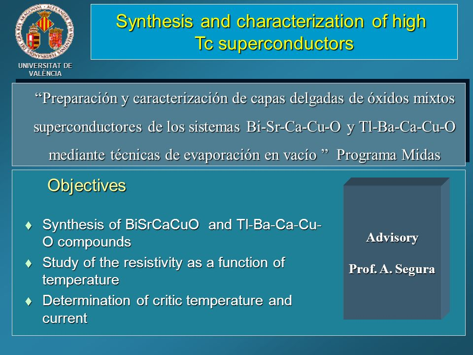 Synthesis and characterization of high Tc superconductors