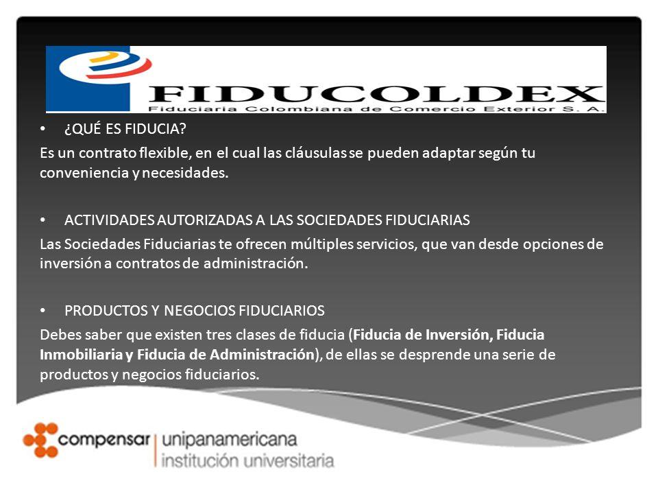 ¿QUÉ ES FIDUCIA Es un contrato flexible, en el cual las cláusulas se pueden adaptar según tu conveniencia y necesidades.