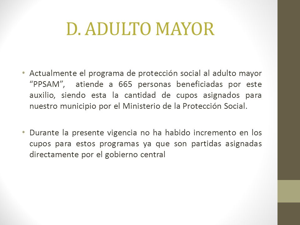 D. ADULTO MAYOR