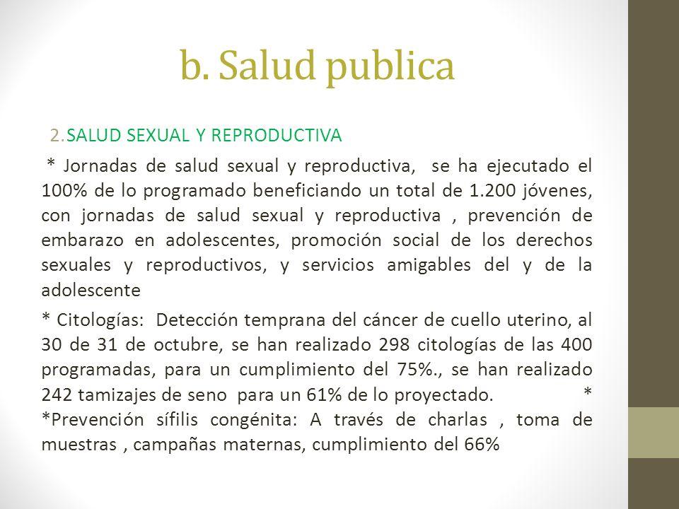 b. Salud publica SALUD SEXUAL Y REPRODUCTIVA