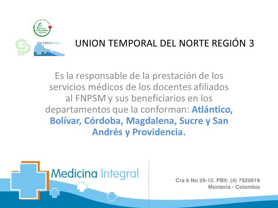 UNION TEMPORAL DEL NORTE REGIÓN 3