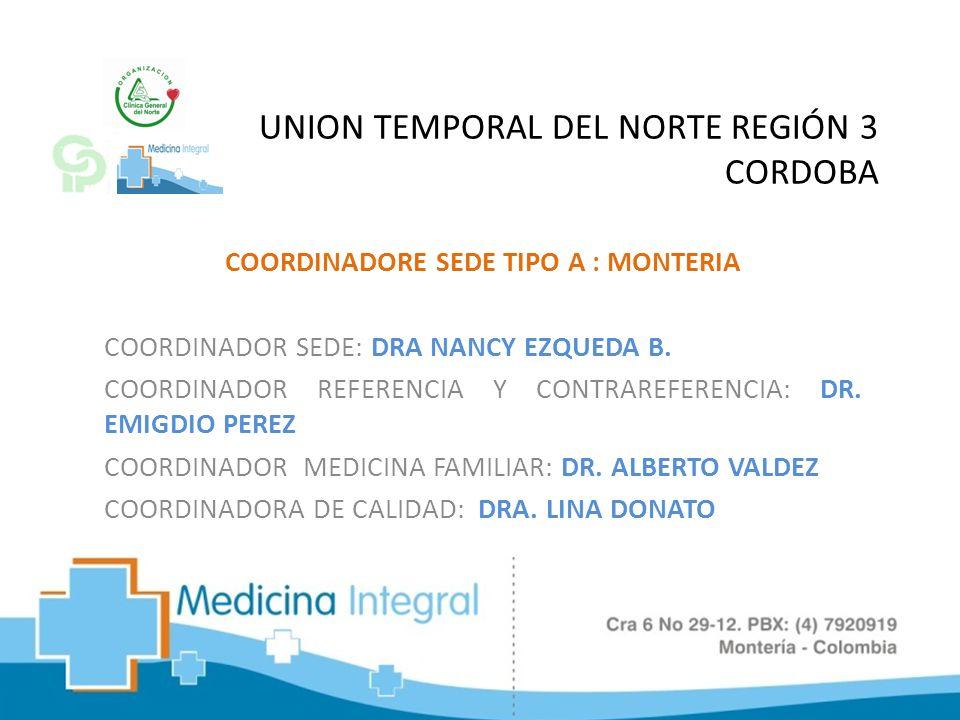 UNION TEMPORAL DEL NORTE REGIÓN 3 CORDOBA