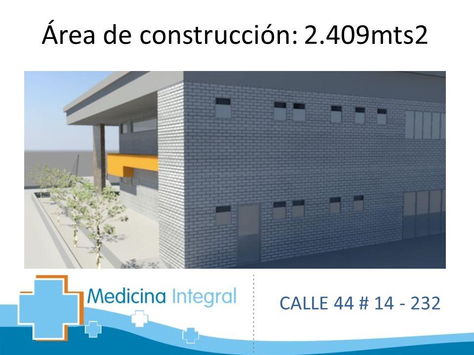 Área de construcción: 2.409mts2