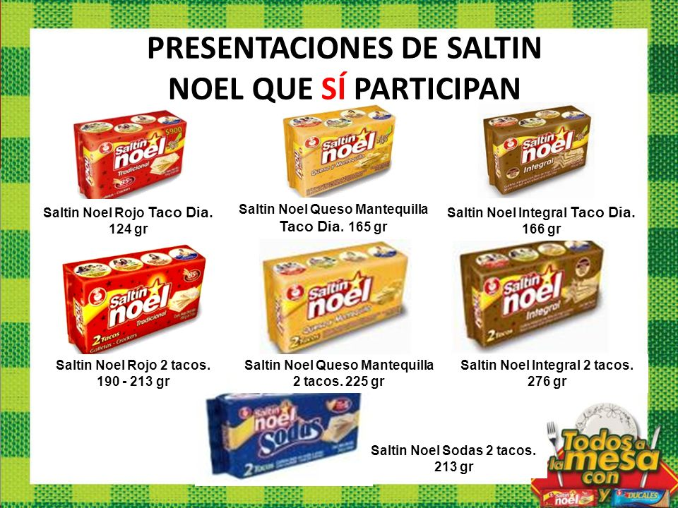 PRESENTACIONES DE SALTIN NOEL QUE SÍ PARTICIPAN
