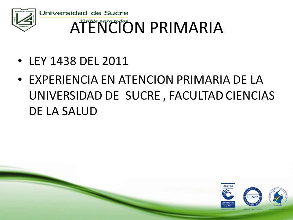 ATENCION PRIMARIA LEY 1438 DEL 2011