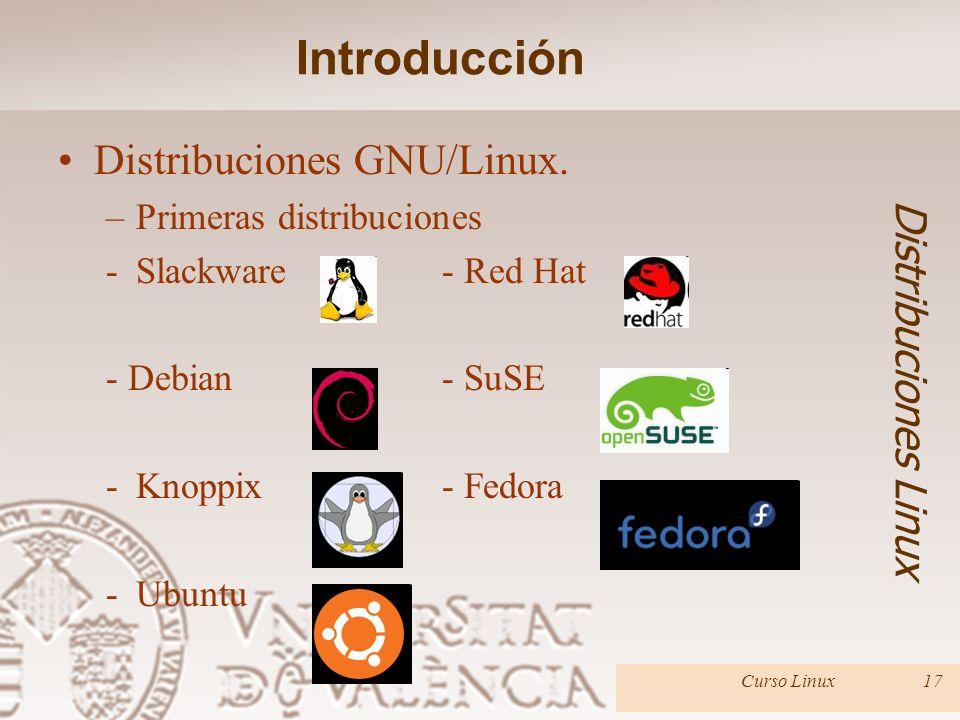 Introducción Distribuciones GNU/Linux. Distribuciones Linux
