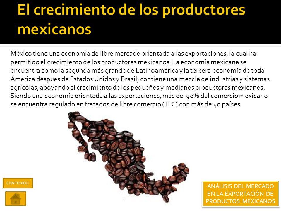 El crecimiento de los productores mexicanos