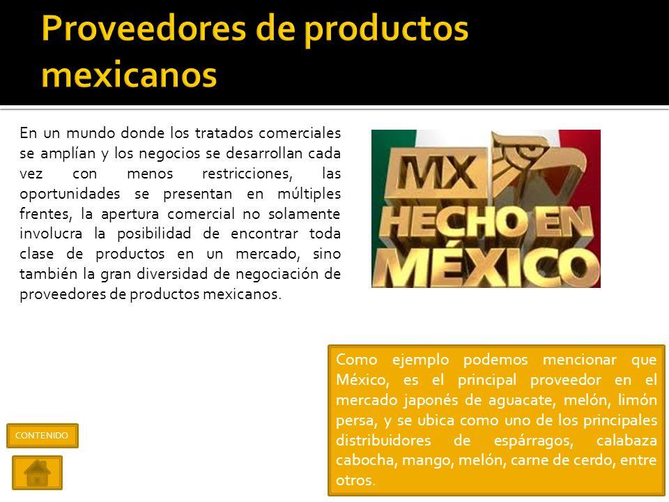 Proveedores de productos mexicanos
