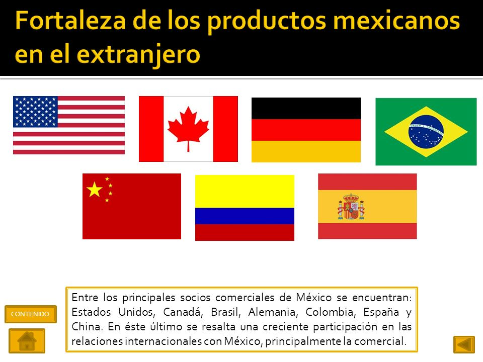 Fortaleza de los productos mexicanos en el extranjero