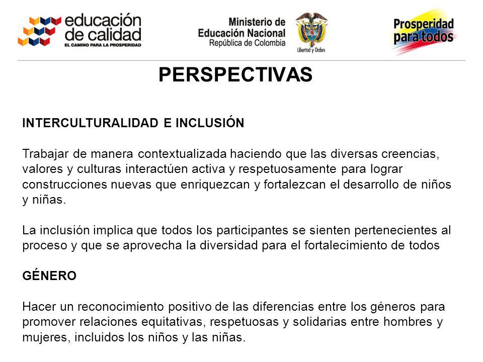 perspectivas INTERCULTURALIDAD E INCLUSIÓN