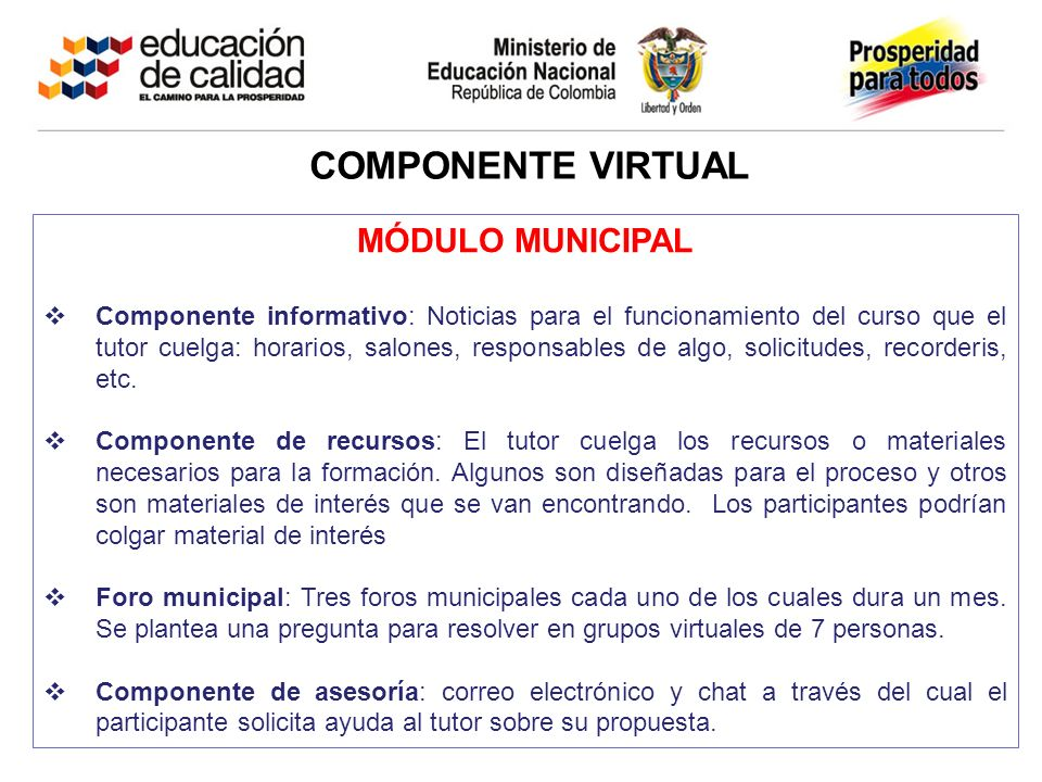 Componente VIRTUAL MÓDULO MUNICIPAL