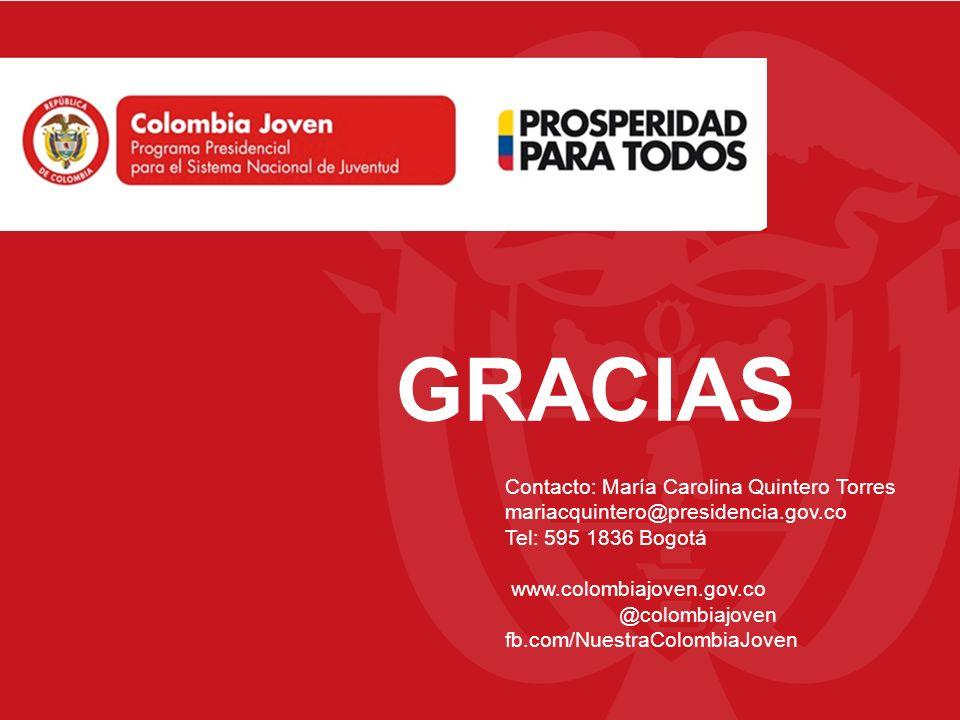 GRACIAS Contacto: María Carolina Quintero Torres