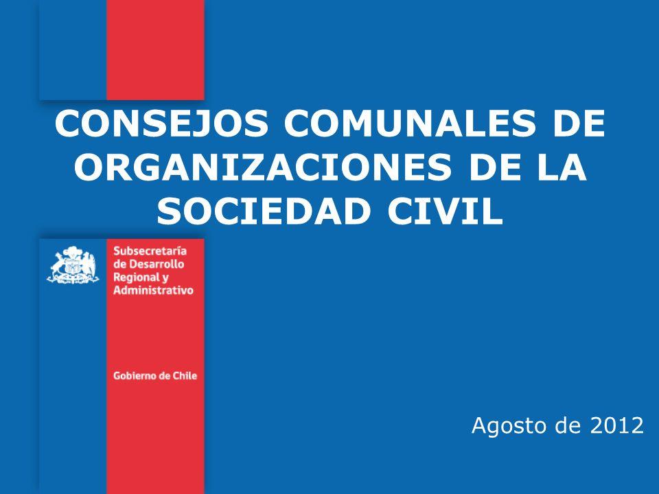 CONSEJOS COMUNALES DE ORGANIZACIONES DE LA SOCIEDAD CIVIL