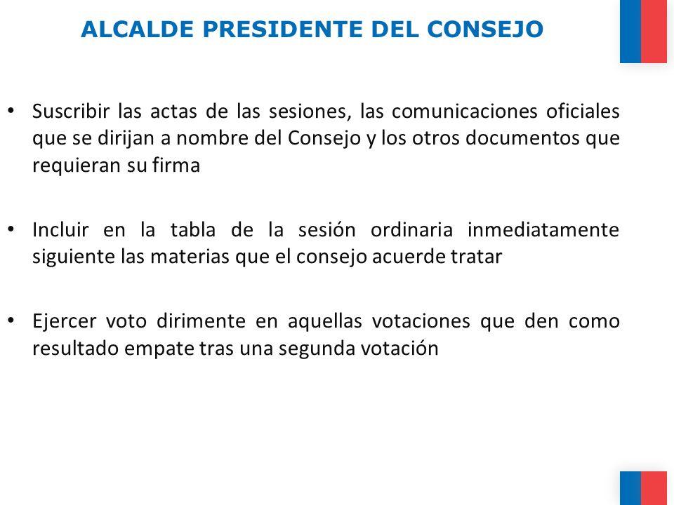 ALCALDE PRESIDENTE DEL CONSEJO