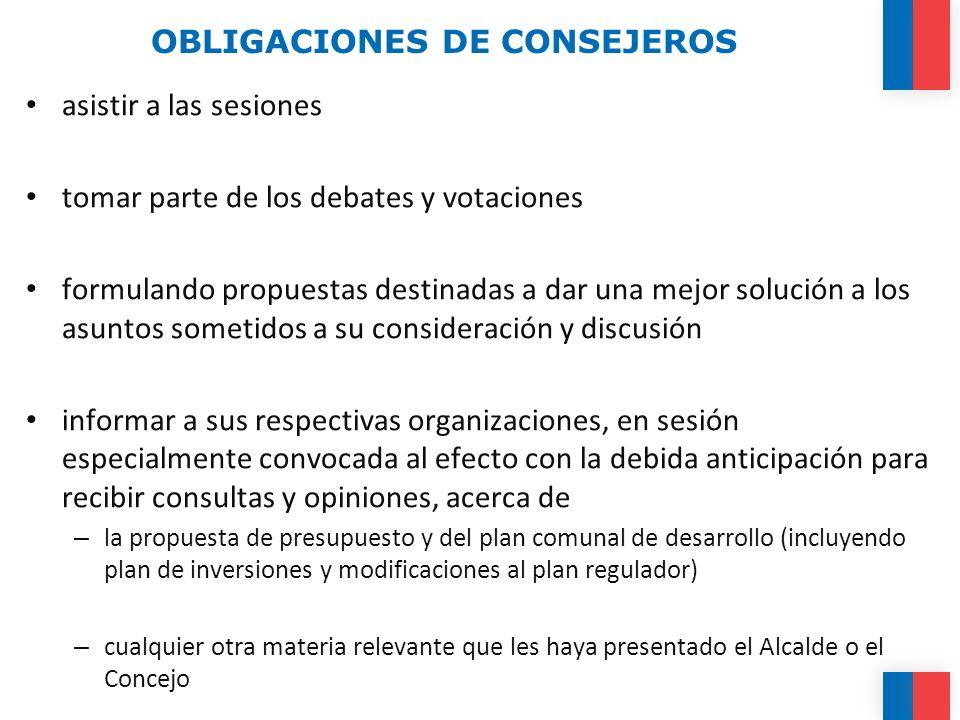 OBLIGACIONES DE CONSEJEROS