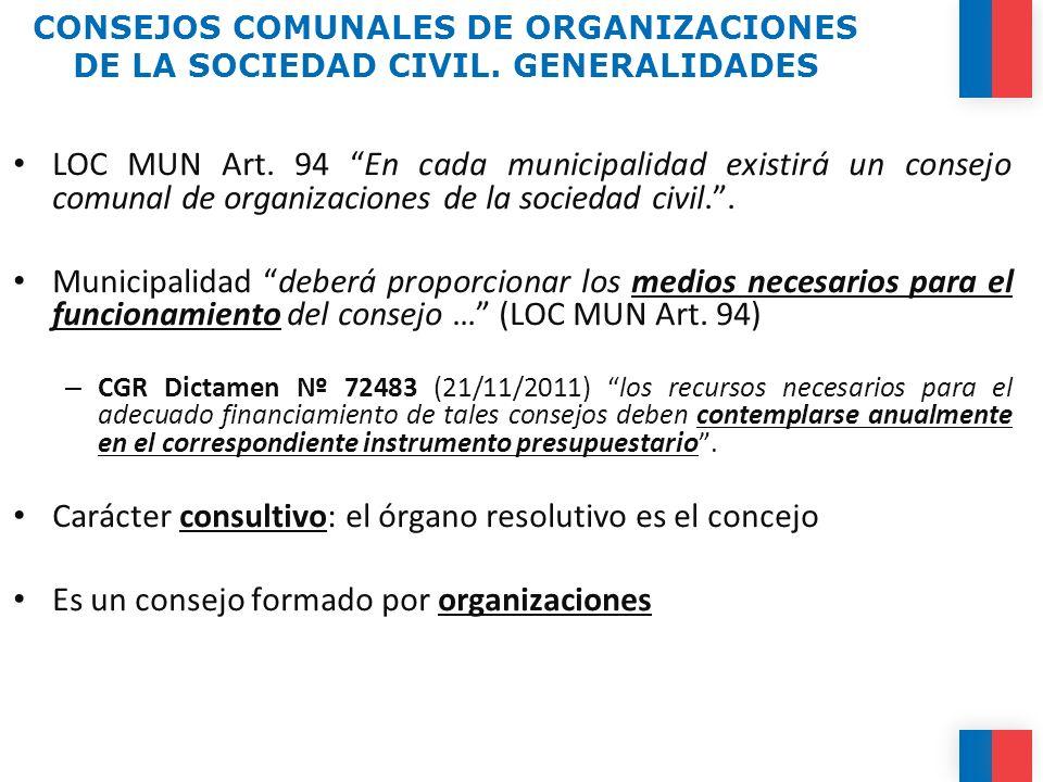 Carácter consultivo: el órgano resolutivo es el concejo