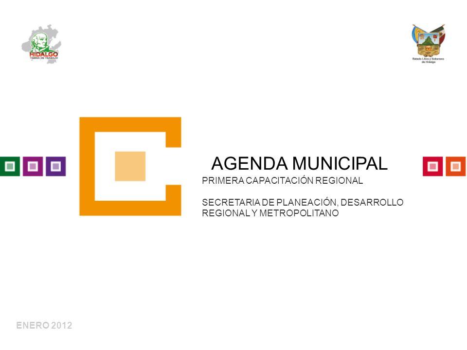 AGENDA MUNICIPAL PRIMERA CAPACITACIÓN REGIONAL