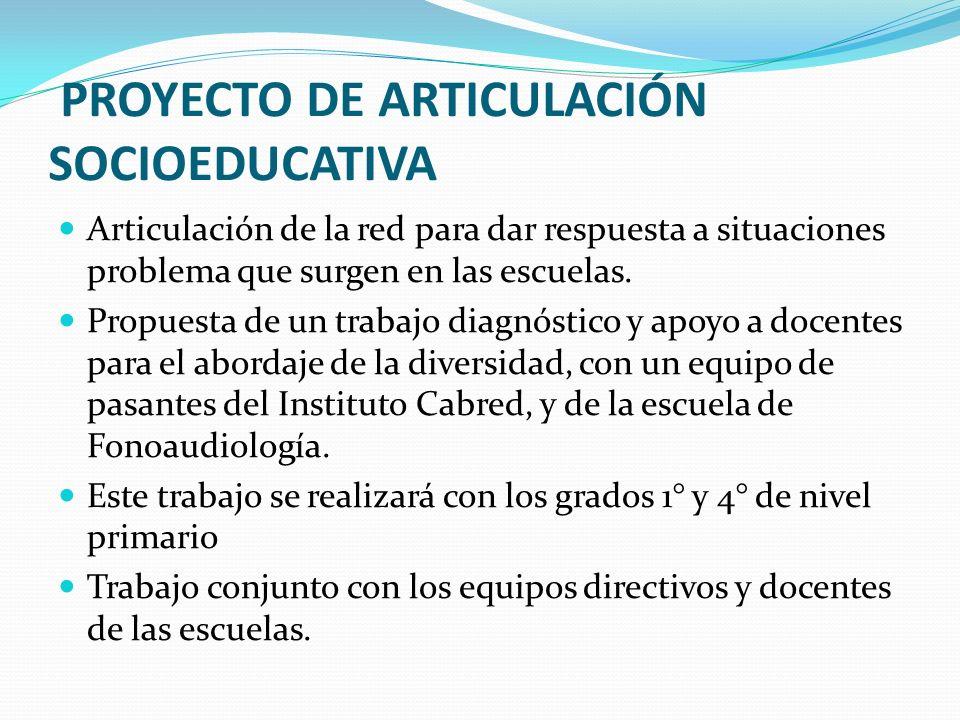 PROYECTO DE ARTICULACIÓN SOCIOEDUCATIVA