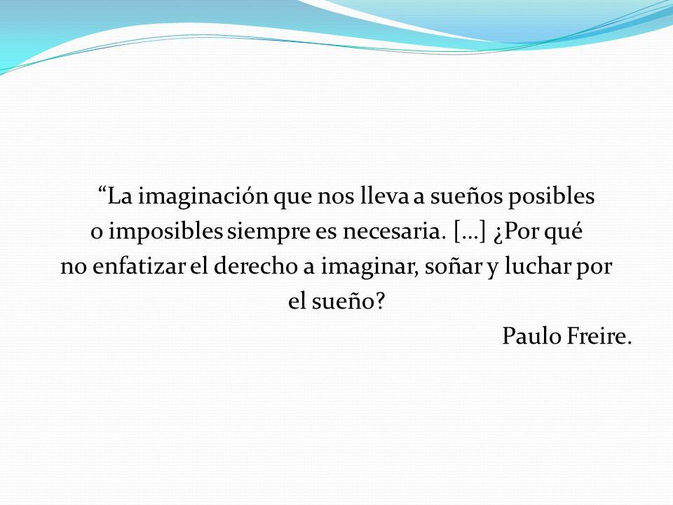La imaginación que nos lleva a sueños posibles o imposibles siempre es necesaria.
