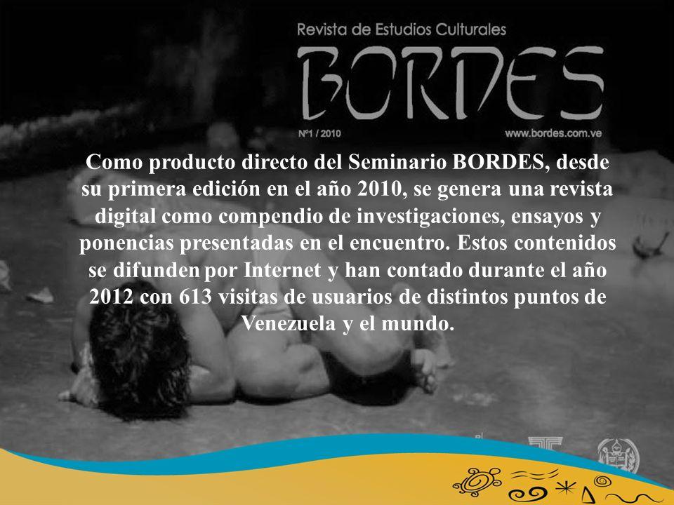Como producto directo del Seminario BORDES, desde su primera edición en el año 2010, se genera una revista digital como compendio de investigaciones, ensayos y ponencias presentadas en el encuentro.